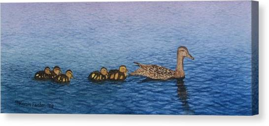 Follow The Leader II Canvas Print by Sharon Farber