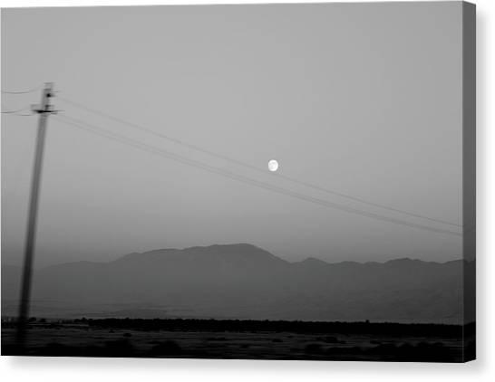 Follow The Moon Canvas Print