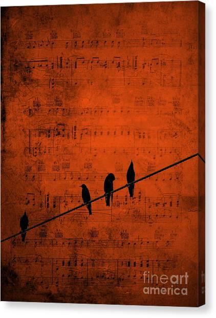 Follow The Music Canvas Print