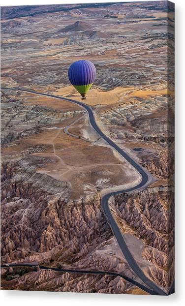 Hot Air Balloons Canvas Print - Follow The Path by Gunarto Song