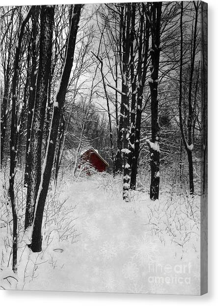 Follow The Snowflake Trail Canvas Print