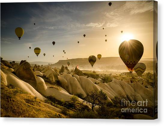 Follow The Wind - Cappadocia Turkey Canvas Print by OUAP Photography