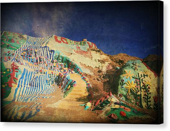 Installation Art Canvas Print - Follow The Yellow Brick Road by Laurie Search