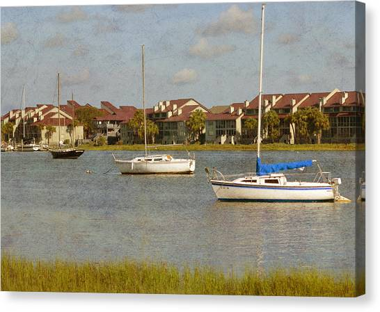 Folly Beach Boats Canvas Print