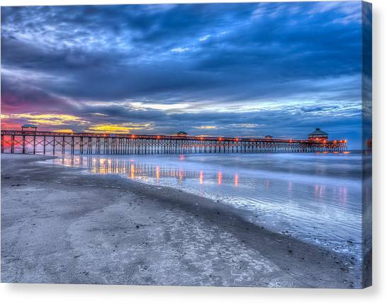 Folly Beach Fishing Pier Canvas Print