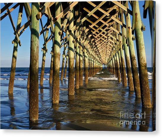 Folly Beach Pier Canvas Print
