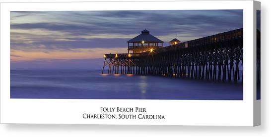 Folly Beach Pier Charleston Sc Canvas Print