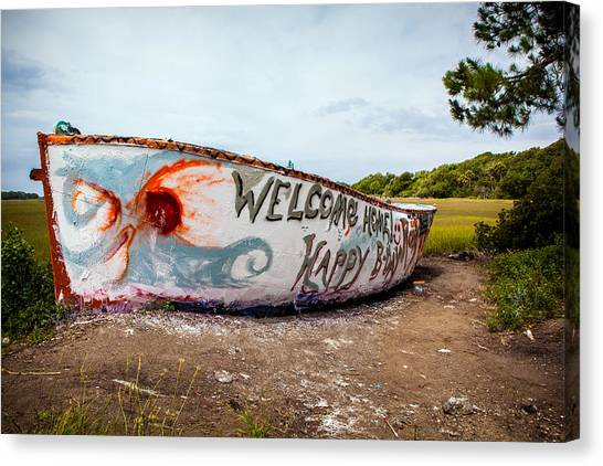Carolina Hurricanes Canvas Print - Folly Boat by Sennie Pierson