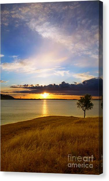Folsom Lake Sunset Canvas Print