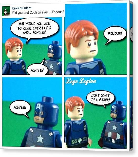 The Legion Canvas Print - Fondue  #askthecaptain #legolegion by Lego Legion