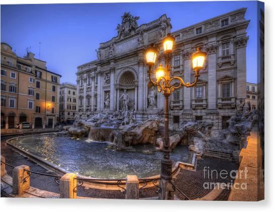 Fontana Di Trevi 3.0 Canvas Print