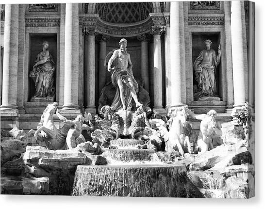 Roman Art Canvas Print - Fontana Di Trevi by Ernesto Cinquepalmi