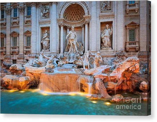 Rome Canvas Print - Fontana Di Trevi by Inge Johnsson