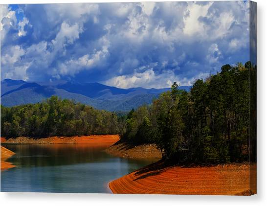 Fontana Lake Storm Canvas Print