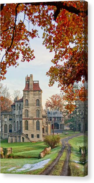 Fonthill Castle In The Fall Canvas Print