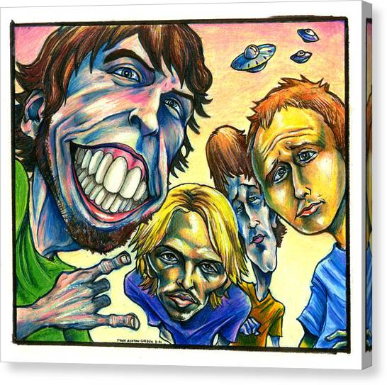 Nirvana Canvas Print - Foo Fighters by John Ashton Golden