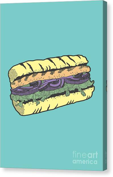 Sandwich Canvas Print - Food Masquerade by Freshinkstain