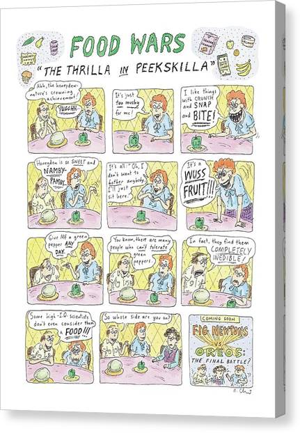Honeydews Canvas Print - Food Wars: Thrilla In Peekskilla by Roz Chast
