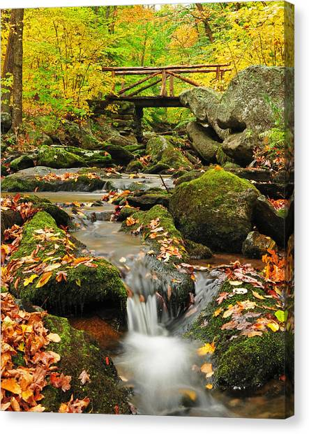 Macedonia Brook Crossing  Canvas Print