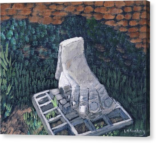 Foot Statue-caesaria Canvas Print