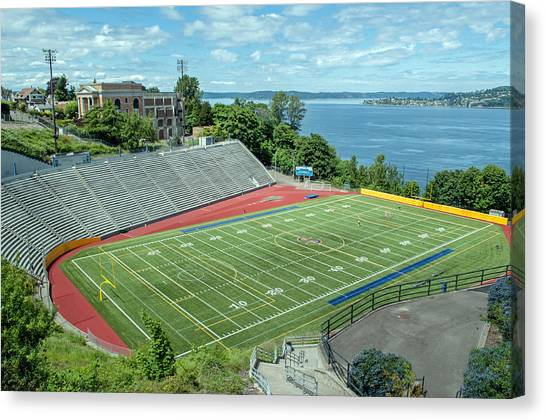 Football Field By The Bay Canvas Print