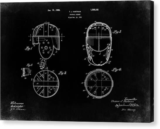 New York Jets Canvas Print - Football Helmet 1926 - Black by Mark Rogan