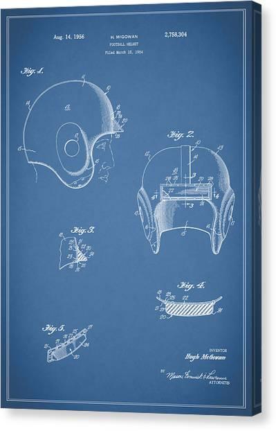 Washington Redskins Canvas Print - Football Helmet 1954 - Blue by Mark Rogan