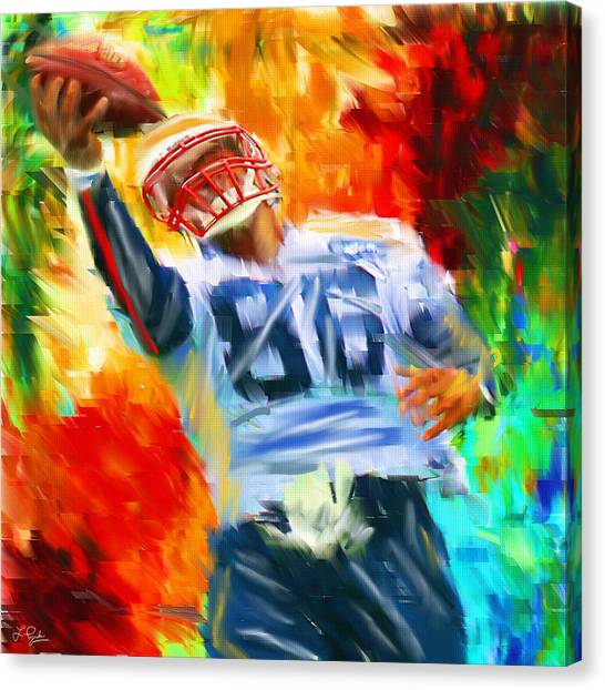 Running Backs Canvas Print - Football II by Lourry Legarde