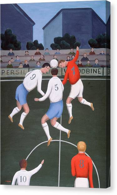 Soccer Players Canvas Print - Football by Jerzy Marek