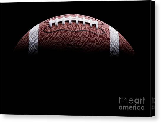 Football Canvas Print - Football Painting by Jon Neidert