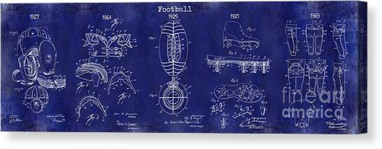 Houston Texans Canvas Print - Football Patent History Blue by Jon Neidert