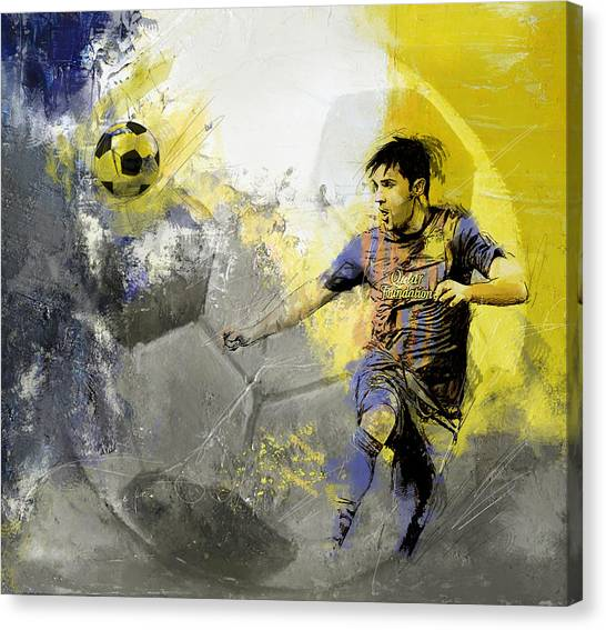 Calgary Flames Canvas Print - Football Player by Catf