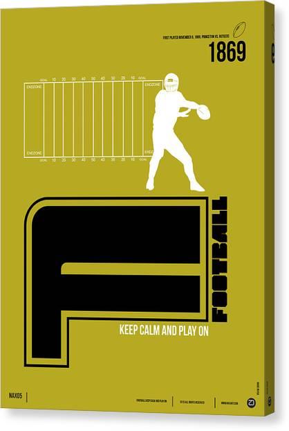 Gamer Canvas Print - Football Poster by Naxart Studio