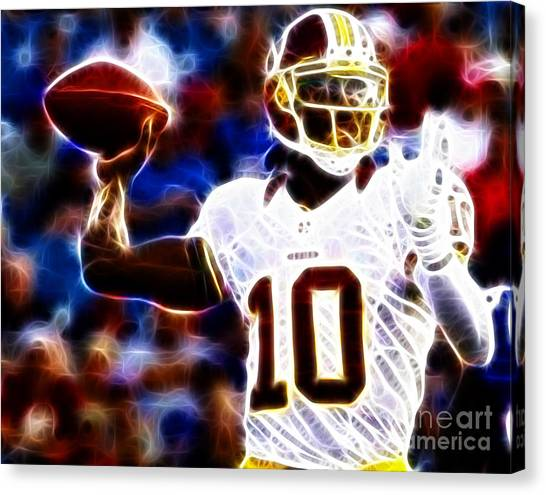 Washington Redskins Canvas Print - Football - Rg3 - Robert Griffin IIi by Paul Ward
