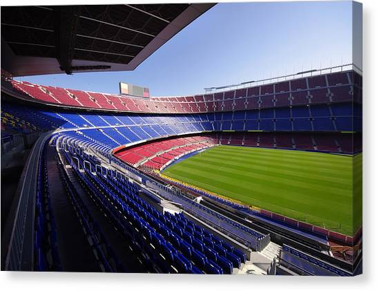 Football Stadium Canvas Print by Ioan Panaite