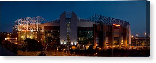 Manchester United Canvas Print - Football Stadium Lit Up At Night, Old by Panoramic Images