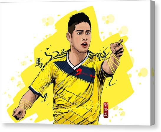 Ligue 1 Canvas Print - Football Stars James Rodriguez Colombia by Akyanyme