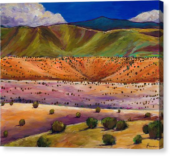 Rio Grande Canvas Print - Foothill Approach by Johnathan Harris