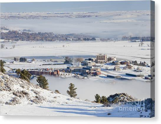 Solar Farms Canvas Print - foothills of Fort Collins by Marek Uliasz