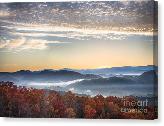 Foothills Parkway Fall Morning Canvas Print
