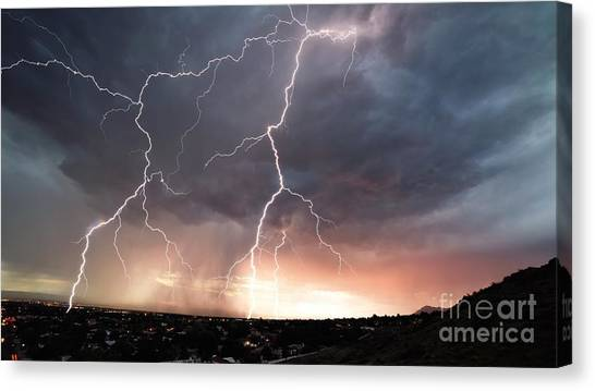 Canvas Print featuring the photograph Foothills Strike by Brian Spencer
