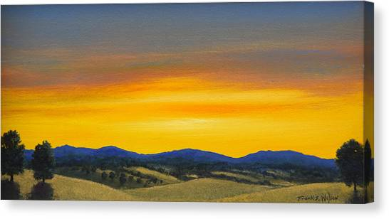 Foothills Sunrise Canvas Print