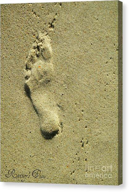 Footprint Canvas Print by Lorraine Heath