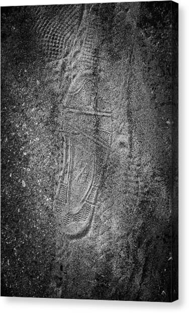 Footprint Of Unknown Person Canvas Print