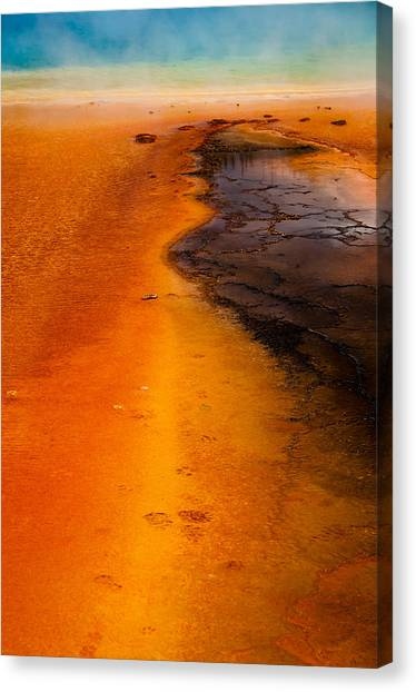 Footprints And Reflections Canvas Print by Shawn Brannon