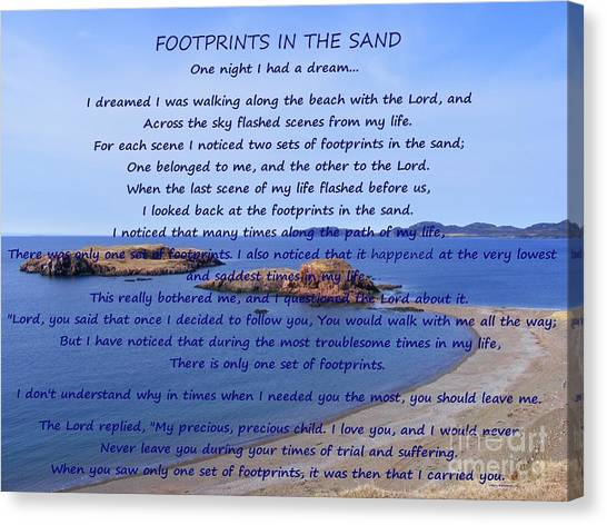 Footprints In The Sand 2 Canvas Print