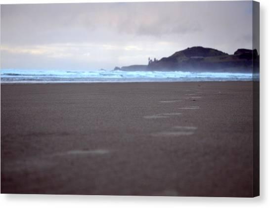 Footprints Canvas Print by Sheldon Blackwell