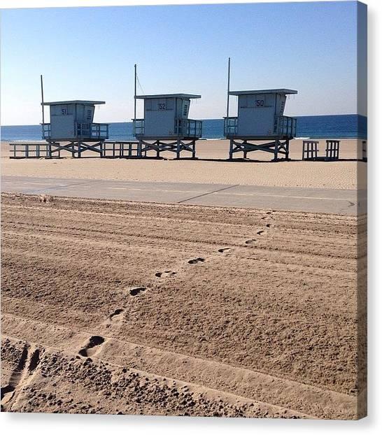 Lifeguard Canvas Print - Footprints by Heidi Lyons