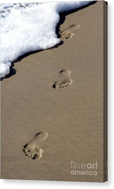 Footsteps Canvas Print