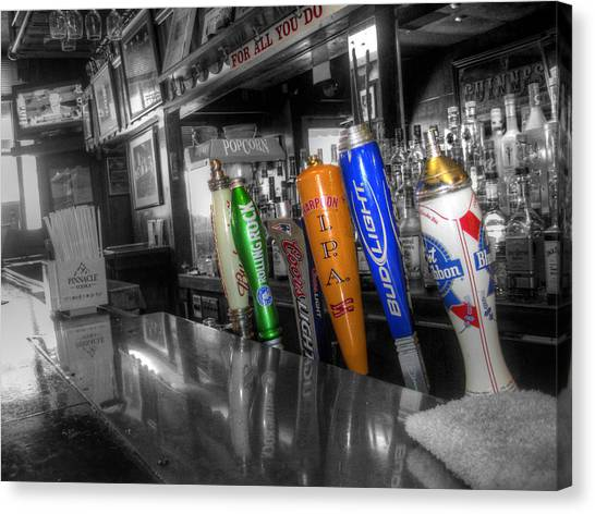For All You Do - Beer Taps - Selective Color Canvas Print